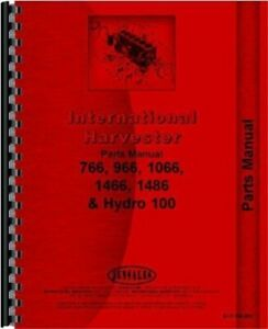 International Harvester 100 Hydro 766 966 1066 1466 1468 Tractor Parts Manual