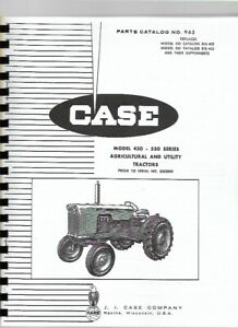 Case 430 530 Tractor Parts Manual Catalog Ag Utility