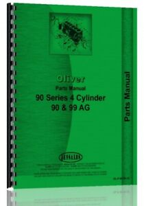 Oliver 90 99 Tractor Parts Manual Catalog 4 Cyl