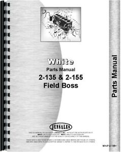 White 2 135 2 155 Diesel Tractor Parts Manual Catalog