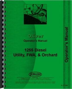 Oliver 1255 Tractor Owners Operators Manual