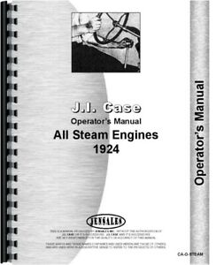 Operators Manual 1924 Case Steam Tractor
