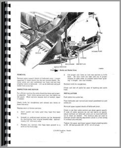 Service Manual Allis Chalmers L2 Combine Chassis