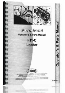 Farmhand F11 c Loader Owners Operators Manual Parts Catalog Attach Sn 26695 Up