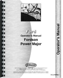 Ford Fordson Power Major Tractor Owners Operators Manual Diesel