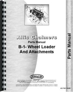 Allis Chalmers B 1 Lawn Garden Wheel Tractor Parts Manual Catalog