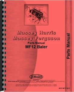 Massey Ferguson 12 Baler Parts Manual Catalog Twine Tie