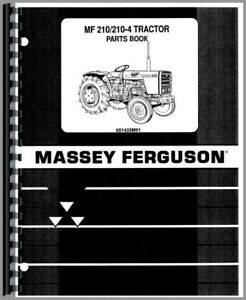Massey Ferguson 210 Tractor Parts Manual Catalog