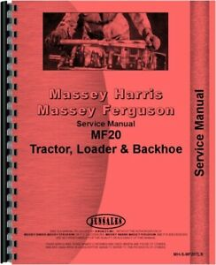 Service Manual Massey Ferguson 20 Tlb Tractor Loader Backhoe
