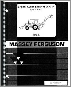 Massey Ferguson 50h 50hx 60h Tlb Tractor Loader Backhoe Parts Manual Catalog
