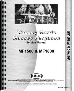 Massey Ferguson 1500 1800 Tractor Service Repair Manual