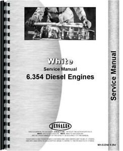 Perkins 6 354 Engine Service Manual White 2 105 Tractor 7300 8600 8800 Combine
