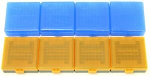 (8) Smart Reloader & Berry's 22 LR PLASTIC Ammo Box Case Storage Containers