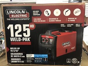 Lincoln Electric Weld pal 125 Hd k2513 1 Flux cored Wire Feed Welder new