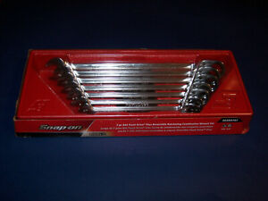 New Snap On 7pc Sae Flank Drive Plus Reversible Ratcheting Wrench Set Soxrr707