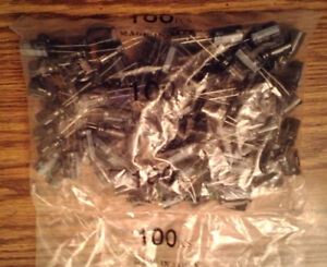 Lots Of 100 Nichicon Uvz2w100mhh 450v 10uf Capacitors Free Shipping