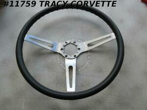 1969 1975 Corvette Chevelle Camaro Black Vinyl Ss 3 spoke 15 Steering Wheel
