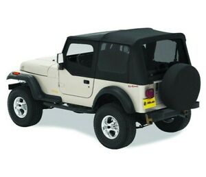 Bestop Factory Soft Top Skin For Jeep Yj Wrangler 88 95 Half Door Clear Black