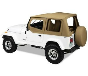 Bestop Factory Soft Top Skin For Jeep Yj Wrangler 88 95 Half Door Clear Spice