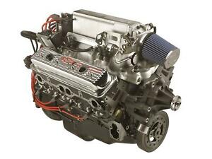 Crate Engine Long Block Ram Jet 350 Small Block Vortec Heads 345 Hp Each