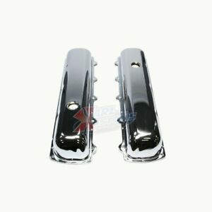 Oldsmobile 330 455 V8 Engine Short Style Chrome Plated Steel Valve Covers