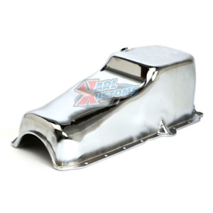 1986 Up Sbc Small Block Chevy Chrome Steel Oil Pan 1 Pc Rear Main Vortec