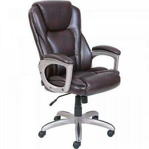 Office Chair Big And Tall Commercial With Memory Foam Brown Up To 350 Lbs
