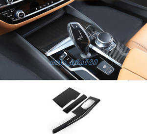 Carbon Fiber Water Cup Holder Panel Cover Trim For Bmw 6 Series Gt G32 2018 2019