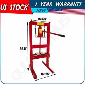 Hydraulic Jack Press Shop Equipment 6 Ton With Plates H Frame Red High Quality