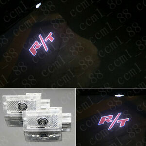 2x Red R t Logo Led Door Courtesy Projector Light Hd For Dodge Charger 2006 2020