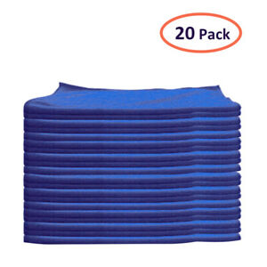 20 Pack Microfiber Cleaning Cloth No Scratch Rag Car Polishing Detailing Towel