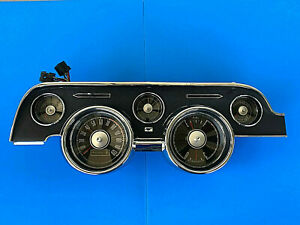 1968 Ford Mustang Complete Gauge Cluster Reconditioned 68 Standard Dash 2022