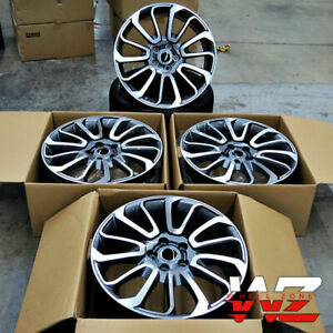 22x10 Wheels Fit Range Rover Land Rover Hse Sport Gun Metal Inlay 22 Inch 5x120