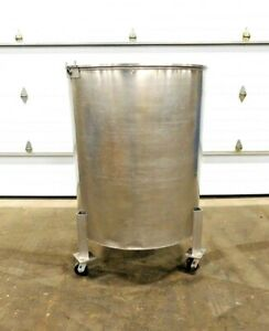 Mo 3256 Stainless Steel 225 Gallon Tank On Casters 304ss