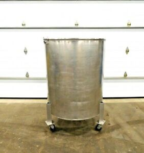 Mo 3257 Stainless Steel 225 Gallon Tank On Casters 304ss