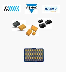 Tantalum Capacitor Sample Kit avx Vishay Kemet 60 Types S60