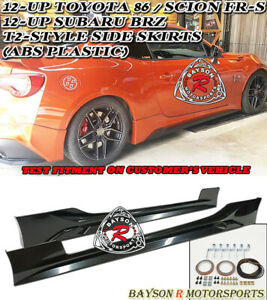 T Style V2 Side Skirts Abs Fits 12 21 Subaru Brz Scion Fr S Toyota 86