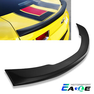 Matte Black Rear Trunk Spoiler Wing For 2010 2013 Chevy Camaro Abs Oe Style Lid