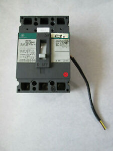 Ge Teb132100 Circuit Breaker With Bell Alarm Switch 3 Pole 100 Amp 240 Vac