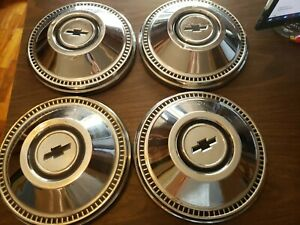 1967 Chevy Biscayne Poverty Dog Dish Hubcaps X 4