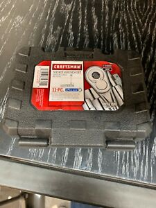 Craftsman 11 Pc 6 Point 1 4 Inch Drive Standard Sae Socket Wrench Set Nip Case