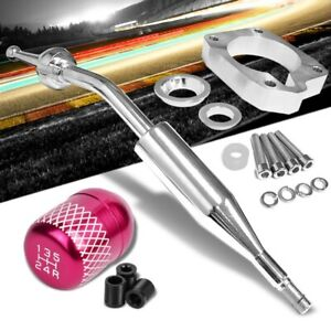 Manzo Short Shifter Pink Net White 5 Speed Knob For 83 87 Corolla Gts Ae86 Mt