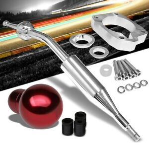 Manzo Short Throw Shifter Red Round Shift Knob For 83 87 Corolla Gts Ae86 Mt