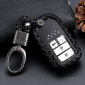 Carbon Fiber Style Car Key Case Accessories For Honda Accord Cr v Hrv Civic Usps