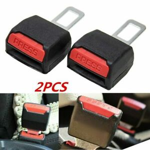 2 X Car Safety Seat Belt Buckle Extension Extender Clip Alarm Stopper Universal