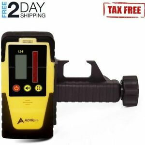 Dual sided Lcd Display Rotary Laser Detector receiver Built in Bubble Level Red