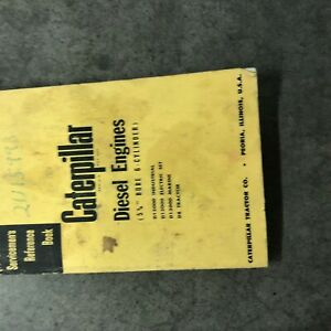 Cat Caterpillar Diesel Engine Servicemen s Reference Book Manual 6 Cyl 5 3 4