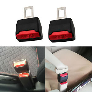 2pcs Universal Type Car Suv Safety Seat Belt Buckle Extender Alarm Eliminator