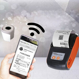 58mm Bluetooth Thermal Printer Pos Receipt For Pc Android Ios New