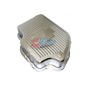 Gm Turbo 400 Chrome Steel Th400 Transmission Pan 4 Deep Style Finned